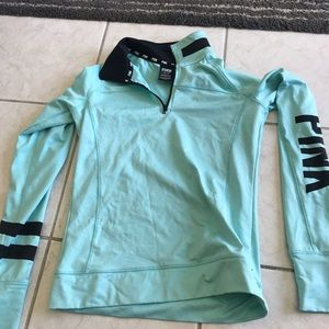 Teal athletic hoodie by PINK size XS worn once